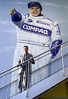 09.11.2001 Bispingen, Deutschland.<br />Formel 1 Pilot Ralf Schumacher am Freitag (09.11.2001) posiert zur Eršffnung seines Kart-Centers in Bispingen. © Tobias Heyer/Digitalsport