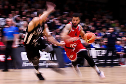 Lewis Champion of Bristol Flyers runs with the ball - Photo mandatory by-line: Robbie Stephenson/JMP - 01/03/2019 - BASKETBALL - Eagles Community Arena - Newcastle upon Tyne, England - Newcastle Eagles v Bristol Flyers - British Basketball League Championship