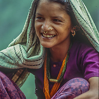 A young woman from the Kali Gandaki Valley, Nepal