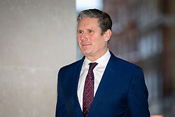 © Licensed to London News Pictures. 05/01/2020. London, UK. Shadow Brexit Secretary and Labour Party leadership contender Sir Keir Starmer arrives at BBC Broadcasting House to appear on the Andrew Marr Show. Photo credit: Rob Pinney/LNP