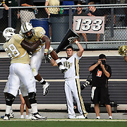 Central Florida running back Ronnie Weaver (35) celebrates a touchdown during an NCAA football game between the Memphis Tigers and the Central Florida Knights at Bright House Networks Stadium on Saturday, October 29, 2011 in Orlando, Florida. (AP Photo/Alex Menendez)