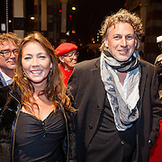 NLD/Amsterdam/20160311 - Inloop Boekenbal 2016, Edwin Winkels en partner Jolanda Distelvelt
