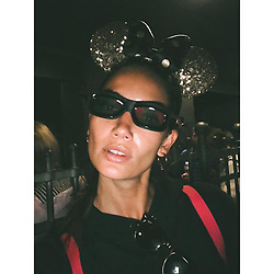 """Lily Aldridge releases a photo on Instagram with the following caption: """"Haute Disney \ud83c\uddeb\ud83c\uddf7"""". Photo Credit: Instagram *** No USA Distribution *** For Editorial Use Only *** Not to be Published in Books or Photo Books ***  Please note: Fees charged by the agency are for the agency's services only, and do not, nor are they intended to, convey to the user any ownership of Copyright or License in the material. The agency does not claim any ownership including but not limited to Copyright or License in the attached material. By publishing this material you expressly agree to indemnify and to hold the agency and its directors, shareholders and employees harmless from any loss, claims, damages, demands, expenses (including legal fees), or any causes of action or allegation against the agency arising out of or connected in any way with publication of the material."""