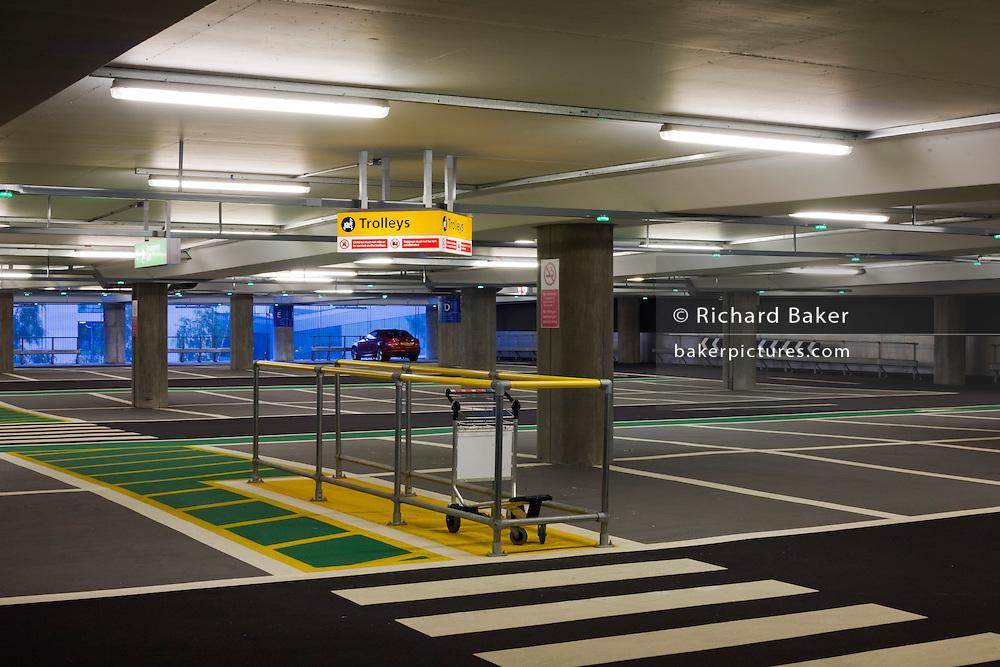 Empty car park architecture at Heathrow's terminal 5.