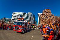 Denver Broncos Super Bowl Victory Parade, Downtown Denver, Colorado USA.