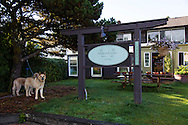 """Manzanita, Oregon, located on Neahkahnie Beach, is a small beach town located in Tillamook County on the Northern Oregon coast.  Manzanita means """"little apple"""" in Spanish. Pictured here is the Bread and Ocean, a very popular bakery on Laneda Street."""