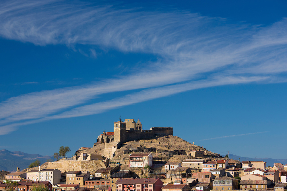 Hill town and citadel of San Vicente de la Sonsierra in La Rioja, Northern Spain RESERVED USE
