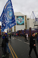 a General view outside the stadium. The Emirates FA cup, 3rd round match, Everton v Dagenham & Redbridge at Goodison Park in Liverpool on Saturday 9th January 2016.<br /> pic by Chris Stading, Andrew Orchard sports photography.