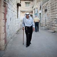Walking the alleyways of the old quarter, Jenin, the West Bank.