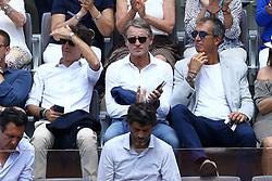 May 18, 2018 - Rome, Italy - The new Italian Football Federation manager Roberto Mancini at Foro Italico in Rome, Italy  during Tennis ATP Internazionali d'Italia BNL quarter-finals on May 18, 2018. (Credit Image: © Matteo Ciambelli/NurPhoto via ZUMA Press)