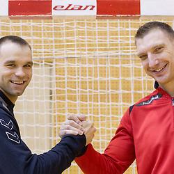 20140121: SLO, Handball - Matjaz Brumen and Miladin Kozlina of HC Vardar