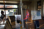 A man dressed as Spiderman on a train at Bush Hill Park station 27th May 2016 London,United Kingdom.