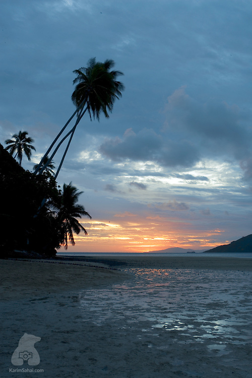 Waya island at sunset, Kadavu, Fiji.