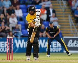 Gloucestershire's Ian Cockbain in action today <br /> <br /> Photographer Simon King/Replay Images<br /> <br /> Vitality Blast T20 - Round 8 - Glamorgan v Gloucestershire - Friday 3rd August 2018 - Sophia Gardens - Cardiff<br /> <br /> World Copyright © Replay Images . All rights reserved. info@replayimages.co.uk - http://replayimages.co.uk