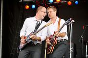 Jon Hardy & The Public performing at the LouFest Music Festival in St. Louis on August 27, 2011