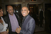 Richard young and Lorenzo Agius, launch of The Bar at the Dorchester. Park Lane. London. 27 June 2006. ONE TIME USE ONLY - DO NOT ARCHIVE  © Copyright Photograph by Dafydd Jones 66 Stockwell Park Rd. London SW9 0DA Tel 020 7733 0108 www.dafjones.com