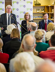 Pictured: Mark Lazarowicz, Kirsty Huges and John Edward<br /> Scottish launch of the campaign for people across the UK to have the final say on Brexit in a 'People's Vote'. Moderated by the incoming chair of the Chair of the European Movement in Scotland, Mark Lazaowicz, speakers included Dr Kirsty Hughes, director of the Scottish Centre on European Relations; Georgie Harris, Vice President Community of the University of Edinburgh Studenst Association and John Edward, former head of the European Parliament Office in Scotland. <br /> <br /> Ger Harley | EEm Date