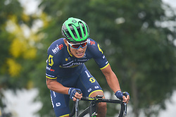 September 15, 2017 - Chenghu City, United States - Sun Xiaolong from Mitchelton Scott team during the fourth stage of the 2017 Tour of China 1, the 3.3 km Chenghu Jintang individual time trial. .On Friday, 15 September 2017, in Jintang County, Chenghu City,  Sichuan Province, China. (Credit Image: © Artur Widak/NurPhoto via ZUMA Press)