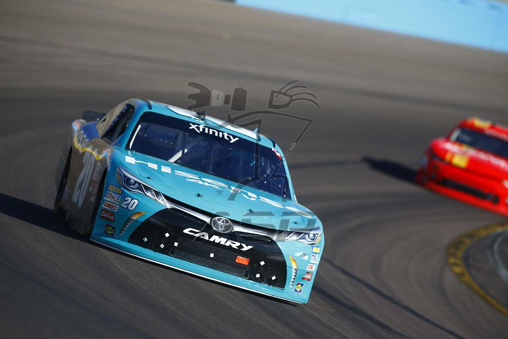November 11, 2017 - Avondale, Arizona, USA: Erik Jones (20) brings his car through the turns during the Ticket Galaxy 200 at Phoenix Raceway in Avondale, Arizona.