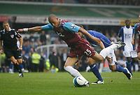 Photo: Steve Bond.<br />Birmingham City v West Ham United. The FA Barclays Premiership. 18/08/2007. Bobby Zamora wriggles free to shoot