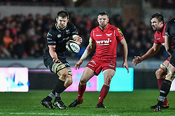 Ospreys' Olly Cracknell in action during todays match - Mandatory by-line: Craig Thomas/Replay images - 26/12/2017 - RUGBY - Parc y Scarlets - Llanelli, Wales - Scarlets v Ospreys - Guinness Pro 14