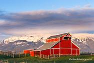The Welcome Stock barn in the Wallowa Valley near Enterprise, Oregon, USA