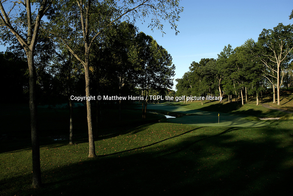 Valhalla during autumn 2007. Venue for the 2008 Ryder Cup Matches between USA and Europe to be staged in September.<br /> Shown here 15th - par 4.