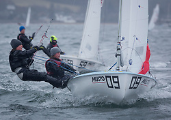 The annual RYA Youth National Championships is the UK's premier youth racing event. Day 3 with winds backing to the North the racing started on the Largs Channel.<br /> <br /> 54379, Charlotte Boyle, Georgia Baker, RLYC, 420 Girl <br /> <br /> Images: Marc Turner / RYA<br /> <br /> For further information contact:<br /> <br /> Richard Aspland, <br /> RYA Racing Communications Officer (on site)<br /> E: richard.aspland@rya.org.uk<br /> m: 07469 854599