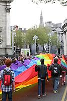 Dublin Pride 2012 LGBTQ festival parade travels through Dublin City Ireland. Saturday 30th June 2012.