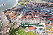 Nederland, Zeeland, Walcheren, 09-05-2013; Vlissingen, met Koopmanshaven en Vissershaven, nu <br /> Marina Jachthaven.<br /> Flushing with city harbours.<br /> luchtfoto (toeslag op standard tarieven)<br /> aerial photo (additional fee required)<br /> copyright foto/photo Siebe Swart