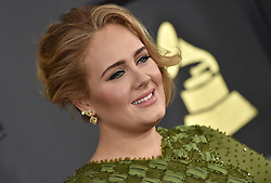 Celebrities arrive on the red carpet for the 59th Grammy Awards held at the Staples Centre in downtown Los Angeles, California. 12 Feb 2017 Pictured: Adele. Photo credit: Bauergriffin.com / MEGA TheMegaAgency.com +1 888 505 6342