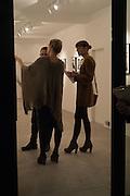LUCA PERRONE; SERENA MORTON; LIBERA FALZETTI, Behind the Silence. private view  an exhibition of work by Paul Benney and Simon Edmondson. Serena Morton's Gallery, Ladbroke Grove, W10.  4 November 2015.