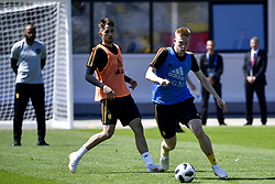 June 15, 2018 - Moscow, RUSSIA - Belgium's Adnan Januzaj and Belgium's Kevin De Bruyne pictured during a training session of Belgian national soccer team the Red Devils in Nahabino, near Moscow, Russia, Friday 15 June 2018. The team is preparing for their first game at the FIFA World Cup 2018 next Monday. BELGA PHOTO DIRK WAEM (Credit Image: © Dirk Waem/Belga via ZUMA Press)
