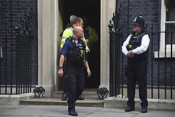 September 6, 2017 - London, United Kingdom - Policemen are seen at 10 Downing Street in London, England on September 06, 2017. (Credit Image: © Alberto Pezzali/NurPhoto via ZUMA Press)