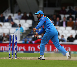 June 8, 2017 - London, United Kingdom - Virat Kohli of India. during the ICC Champions Trophy match Group B between India and Sri Lanka at The Oval in London on June 08, 2017  (Credit Image: © Kieran Galvin/NurPhoto via ZUMA Press)