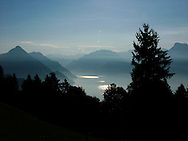 View from the Bürgenstock towards Uri, near Lucerne, Switzerland
