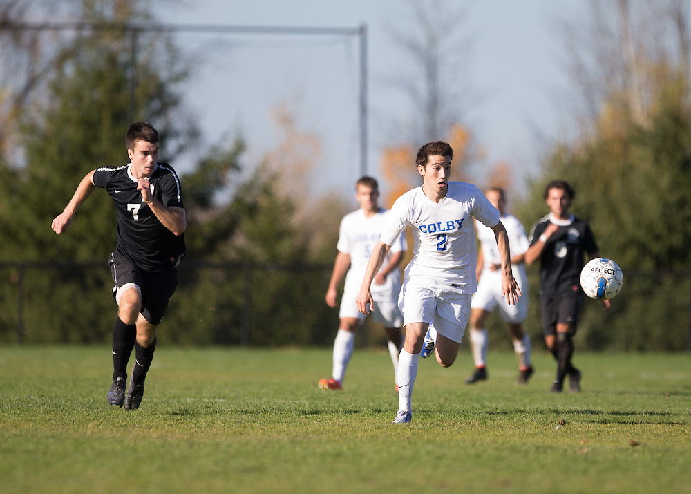 Keith Chernin, of Colby College, during a NCAA Division III men's soccer game on October 25, 2014 in Waterville, ME. (Dustin Satloff/Colby College Athletics)
