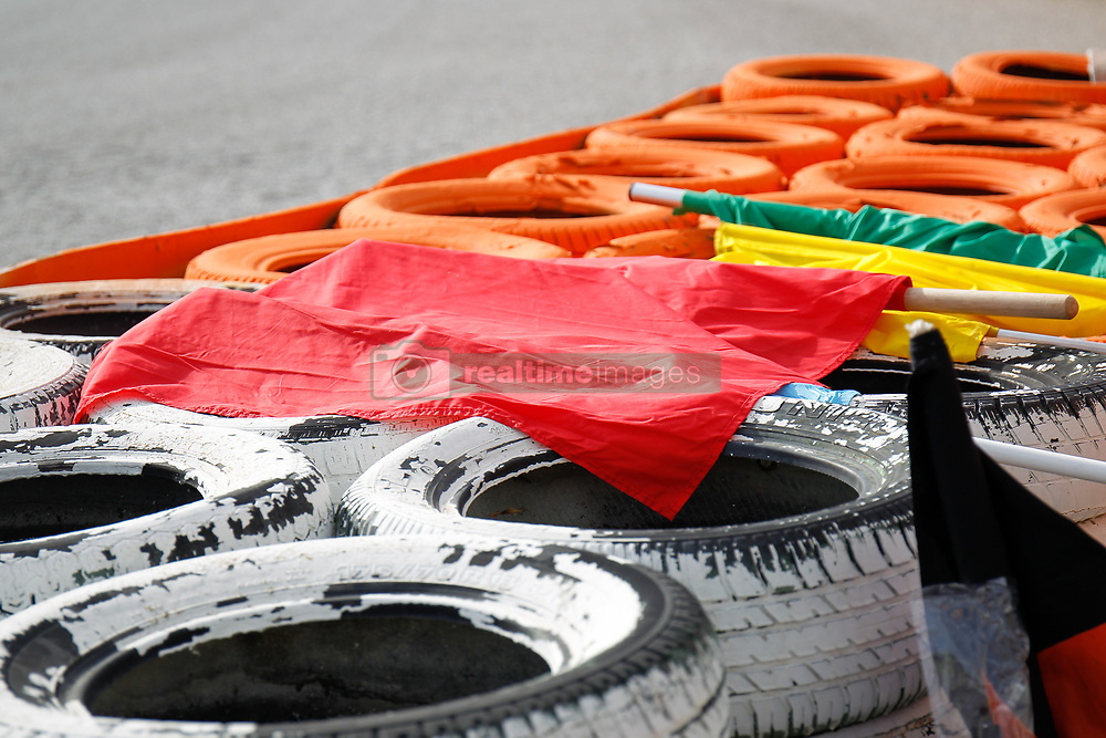 November 17, 2019, Cheste, VALENCIA, SPAIN: Ilustration, red flag during the Valencia Grand Prix of MotoGP World Championship celebrated at Circuit Ricardo Tormo on November 16, 2019, in Cheste, Spain. (Credit Image: © AFP7 via ZUMA Wire)