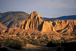 Desert mesa bathed in sunlight