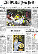 Published work by Asanka Brendon Ratnayake in the Washington Post while on assignment covering the Easter Sunday Terror Attacks in Sri Lanka 2019