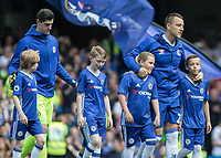 Football - 2016 / 2017 Premier League - Chelsea vs. Sunderland <br /> <br /> John Terry of Chelsea leads his team onto the pitch for the last time with his two children at Stamford Bridge.<br /> <br /> COLORSPORT/DANIEL BEARHAM