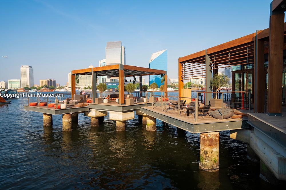 New Al Seef promenade adjacent to new heritage district beside The Creek waterside in Dubai, United Arab Emirates
