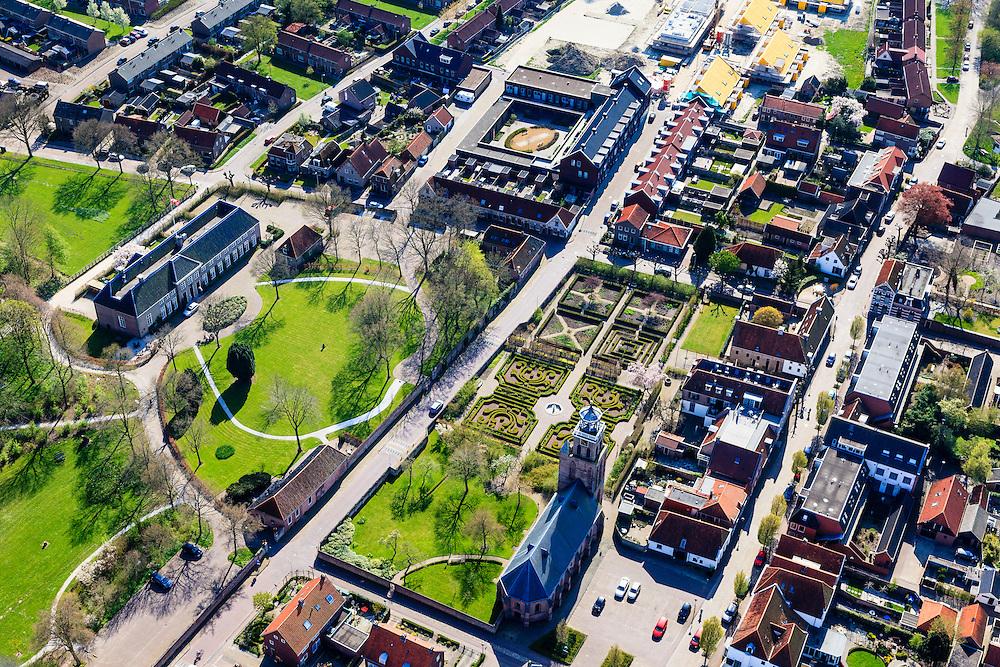 Nederland, Overijssel, Gemeente Steenwijkerland, 01-05-2013; Vollenhoven, met Kleine of Lieve Vrouwkerk<br /> QQQ<br /> luchtfoto (toeslag op standard tarieven)<br /> aerial photo (additional fee required)<br /> copyright foto/photo Siebe Swart