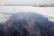 Saint Petersburg, Russia, The frozen Neva River