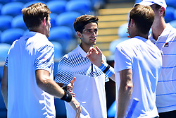 January 24, 2019 - Melbourne, Australia - Australian Open - Pierre Hugues Herbert Nicolas Mahut double - France (Credit Image: © Panoramic via ZUMA Press)