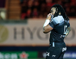 Toulon's Ma'a Nonu<br /> <br /> Photographer Simon King/Replay Images<br /> <br /> European Rugby Champions Cup Round 6 - Scarlets v Toulon - Saturday 20th January 2018 - Parc Y Scarlets - Llanelli<br /> <br /> World Copyright © Replay Images . All rights reserved. info@replayimages.co.uk - http://replayimages.co.uk