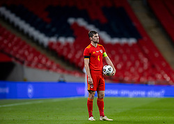 LONDON, ENGLAND - Thursday, October 8, 2020: Wales' Ben Davies during the International Friendly match between England and Wales at Wembley Stadium. The game was played behind closed doors due to the UK Government's social distancing laws prohibiting supporters from attending events inside stadiums as a result of the Coronavirus Pandemic. England won 3-0. (Pic by David Rawcliffe/Propaganda)