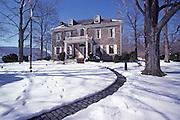 Fort Hunter Mansion, Snow, Harrisburg, Pennsylvania