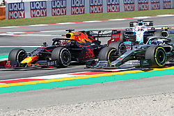 May 10, 2019 - Barcelona, Spain - Mercedes of Valtteri Bottas and Aston Martin Red Bull of Max Verstappen during the practices of the GP Spain Formula 1, on 10th May 2019, Barcelona, Spain. (Credit Image: © Joan Valls/NurPhoto via ZUMA Press)