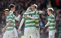 01/03/15 SCOTTISH PREMIERSHIP<br /> CELTIC v ABERDEEN<br /> CELTIC PARK - GLASGOW<br /> Celtic's Stefan Johansen celebrates his goal with team-mate John Guidetti (9)